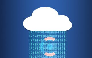 The cloud and beacon logo